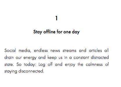Primo febbraio: un giorno offline