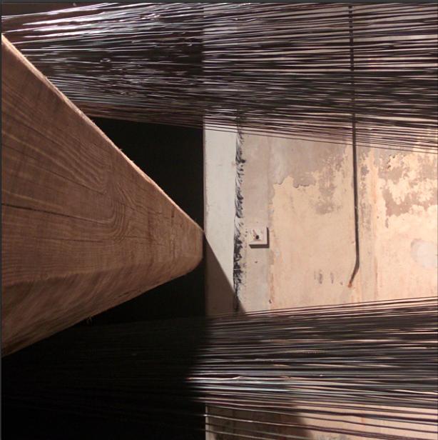 Particolare di un'opera di Santiago Reyes alla Cavallerizza di Torino (dicembre, 2014)